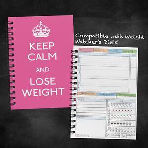Detalles De Dieta Alimentos Diario Weight Watchers Planificador Tracker Libro De Registro Diario Keep Calm Rosa Ver Titulo Original