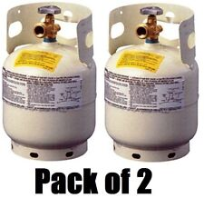 (2) Manchester 10054.3  5 lb Steel Propane Tanks w QCC1 Valve & Overfill Device