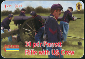 Soldatini 1//72 12 PDR WHITWORTH RIFLE WITH CONFEDERATE CREW STRELETS 183