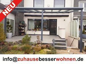 terrassen berdachung carport berdachung aluminium terrassendach vsg glas 8x3 5m ebay. Black Bedroom Furniture Sets. Home Design Ideas