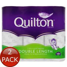 2 x QUILTON TOILET ROLL FLORAL DOUBLE LENGTH 3PLY 9 PACK TISSUE PAPERS BATHROOM
