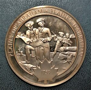 1759 Plains of Abraham: 1971 History of Canada Proof Bronze Medal