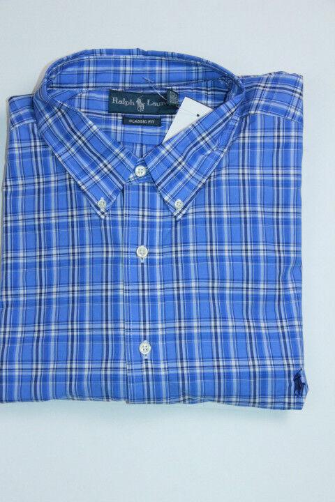 Polo Ralph Lauren bluee Shirt Small Pony 4XLT 4X Tall Classic Fit Medium Weight