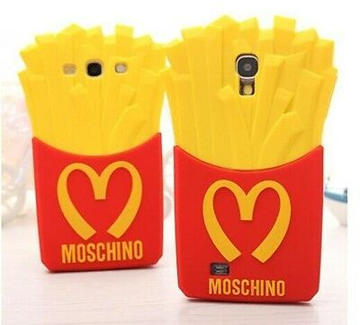 3D HOT French Fries Soft Silicone Cover Case For Apple iPhone / Samsung Galaxy