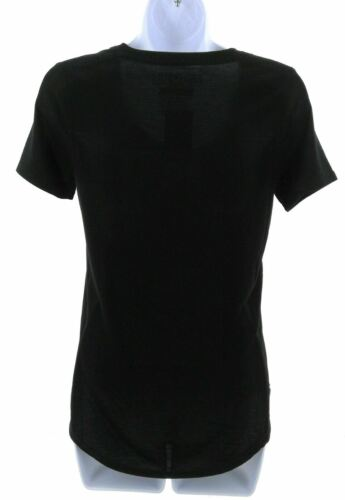 Details about  /Fifth Sun Tunic Length T Shirt Juniors Black and White Short Sleeve