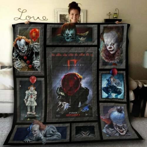 Quilt Blanket Printing In USA Details about  /Halloween It Pennywise chapter two Fleece Blanket