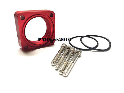 Red Vortex Flow Throttle Body Spacer For 91-94 95-98 NISSAN 240 SX 2.4L 240SX
