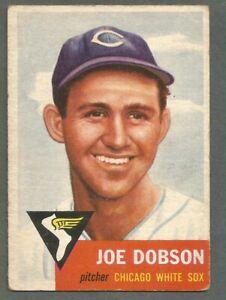 1953-Topps-Baseball-Joe-Dobson-5-Chicago-White-Sox-EX