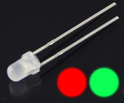 S526-50 Piece Duo Leds 0 1//8in Bi-Color Red//Green Diffuse Bicolor Red//Green