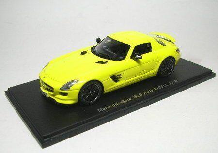 MERCEDES SLS AMG E-CELL 2010 amarillo 1 43 MODEL s1058 SPARK MODEL