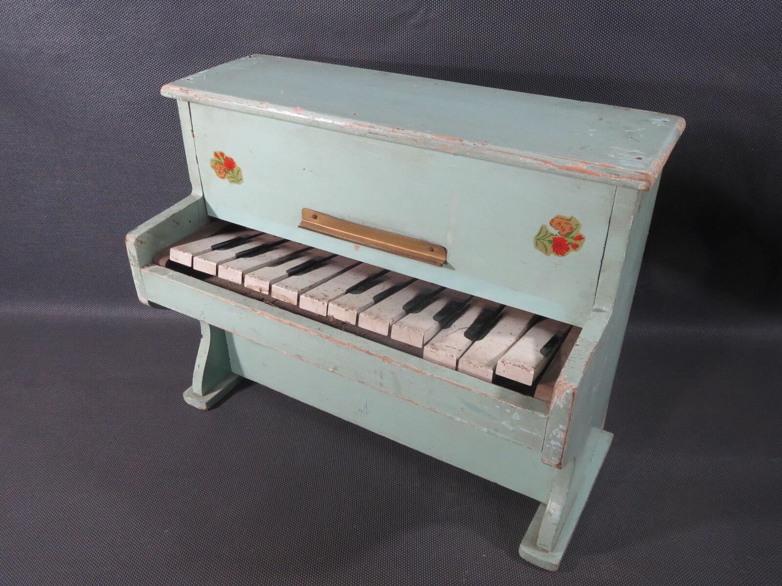 Antico pianoforte bambola giocattolo in legno vintage anni 1950 da bambola pianoforte old 160d70