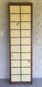 Large Vintage Japanese Shoji Screen Room Divider Folding Wood
