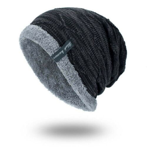 Men Women Knitted Baggy Beanie Winter Warm Hat Ski Causal Knit Cap Unisex Hat SD
