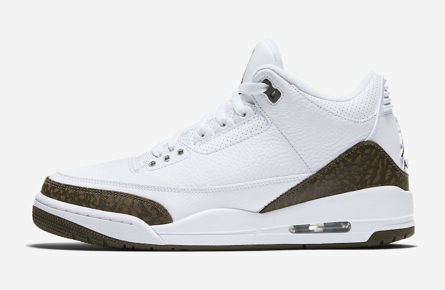 2018 Nike Air Jordan 3 III Retro SZ 12 White Dark Mocha OG Chrome 136064-122