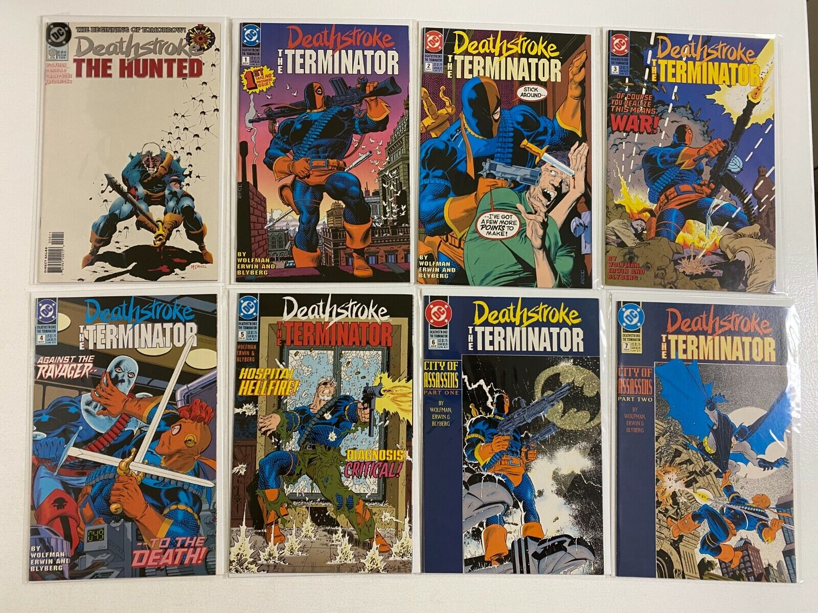 Deathstroke Terminator lot #0-60 + Annuals DC 44 pieces 8.0 VF (1991 to 1996)