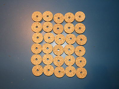BUY 10 AND SAVE! CORK RINGS 10 DARK SPOTTED 1.25 X1//2 SOLID