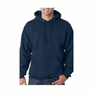 Hooded Plain Black Sweatshirt Top Men Women Pullover Hoodie Fleece ...