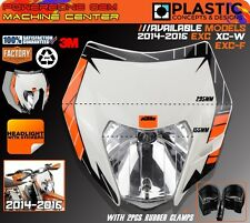 Motorcycle Dirt Bike MX Universal Headlight Headlamp KTM EXC F XCW SX F 125-500