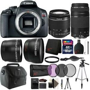 Canon-EOS-Rebel-T7-24-1MP-DSLR-Camera-18-55mm-75-300mm-Lens-Accessory-Bundle