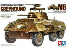 Tamiya 35228 1/35 Scale Military Model Kit U.S M8 Light Armored Car Greyhound