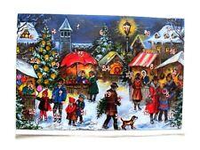 Adventskalender Karte Klappkarte 17 x 11.5 cm  Adventskalenderkarte