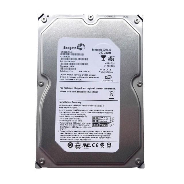 "Seagate 250GB ST3250820A 7200RPM PATA/IDE 3.5"" Desktop HDD Hard Disk Drive"