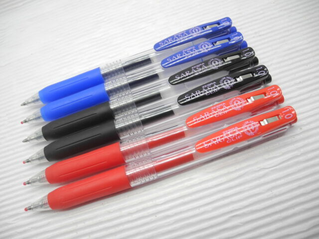 BlackX2,BlueX2,RedX2 ZEBRA SARASA Clip 1.0mm Broad Gel Ink Rollerball Pen(Japan)