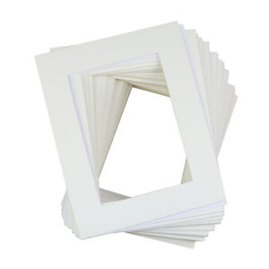 50 Pack 8x10 Quot White Picture Mats Mattes With White Core
