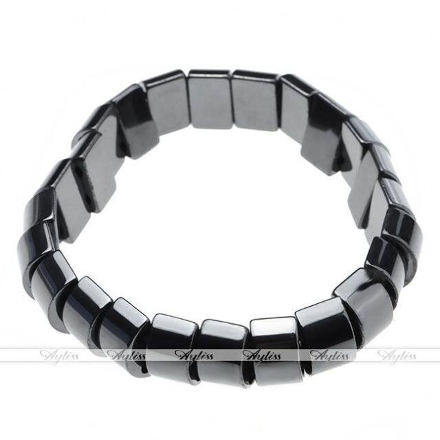 Black Hemae Magnetic Bead Elastic Bracelet Bangle Healing Balance Pain Relief