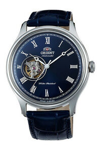 Orient-FAG00004D-Men-039-s-Envoy-Leather-Band-Open-Heart-Skeleton-Automatic-Watch