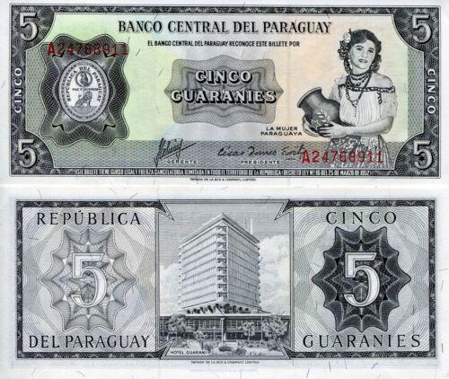 Pick 223c UNC 2010 PARAGUAY BANKNOTE 5000 Guaranies