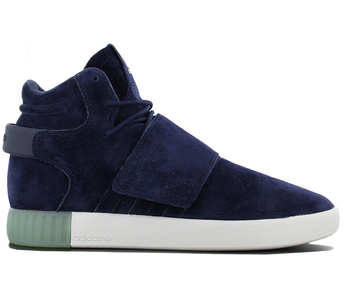 adidas Originals Tubular Schuhe Invader Strap Leder Blau Herren Schuhe Tubular Sneaker BB5041 186bab