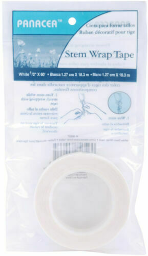 3 Pack Stem Wrap Tape 60 Feet//Pkg-White Floral Flower Craft Wire Tool by Panacea