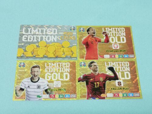 Panini Adrenalyn XL Uefa Euro EM 2020 Set 4-4 x Premium Gold Limited Edition