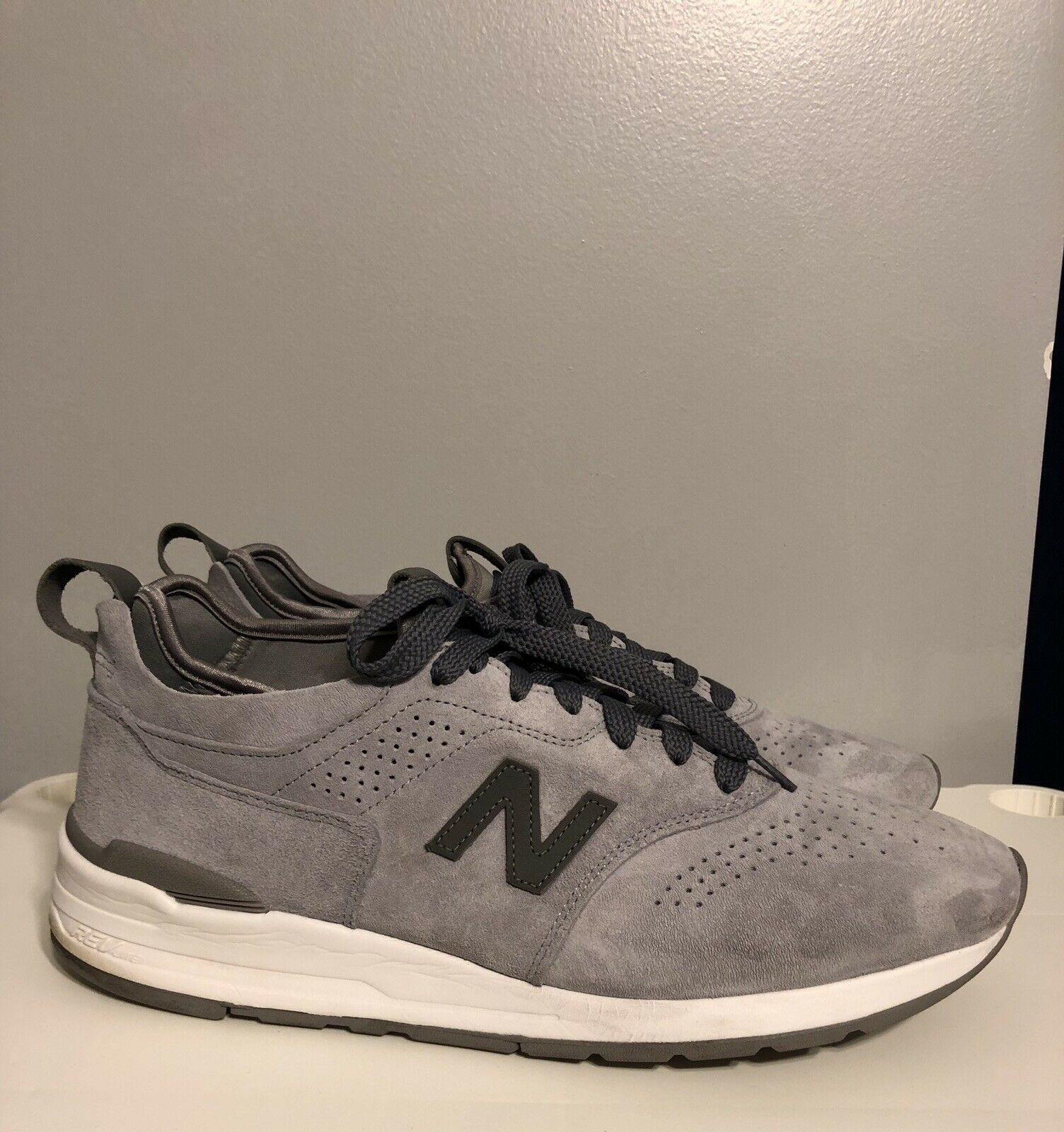 New Balance M997DGR2 Deconstructed Made in the USA Suede zapatos Talla 13 Rare 997