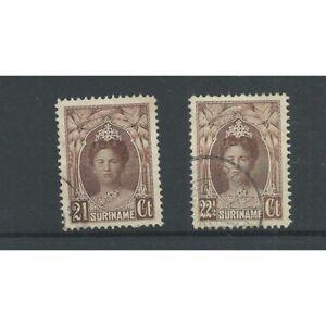 Suriname-122-123-Wilhelmina-VFU-gebr-CV-35