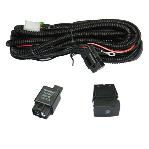Relay Wiring Harness Switch H11 For Honda Civic CRV Add-On Fog Light DRL Wire