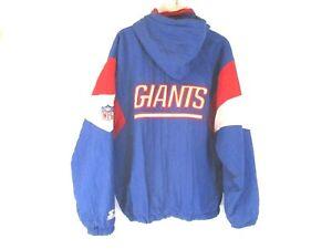 reputable site 9135c 5b3aa New York Giants Starter Men Hooded Nylon Coat Jacket 1/4 Zip ...
