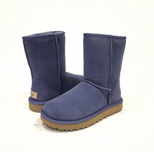 165dab54876 Details about NEW! UGG CLASSIC SHORT II BOOTS BLUE SHEEPSKIN WATER  REPELLENT WOMENS US 6 -NIB