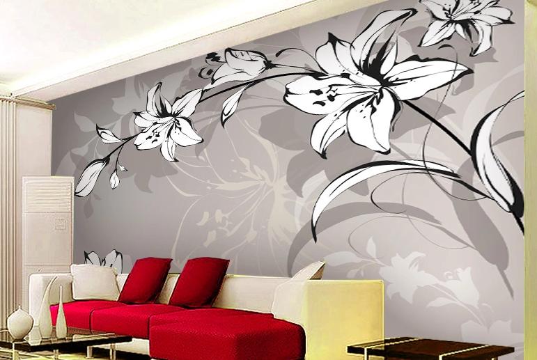 3D grau Weiß Lily 853 Wall Paper Murals Wall Print Wall Wallpaper Mural AU Kyra