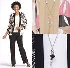 Kathy Roberts Womens Dress Suit Satin Jacket Pants 2 Pieces Set Multi size 8 NEW