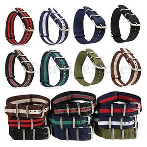 Watch-Strap-Band-Military-Army-Nylon-Stainless-Steel-Buckle-Men-Women-18mm-20mm