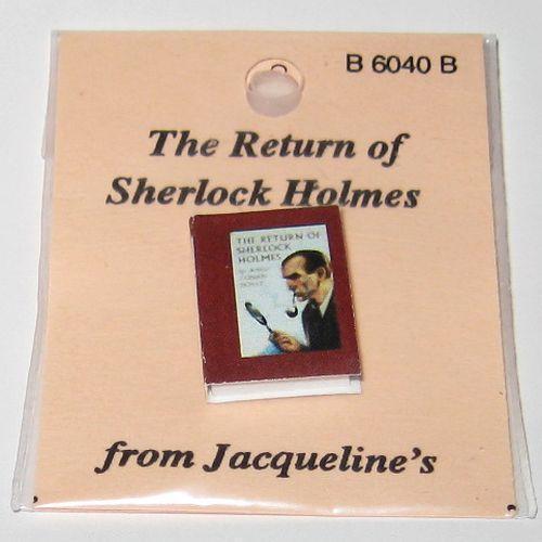 DOLLHOUSE Book The Return of Sherlock Holmes Jacqueline's B6040B Miniature