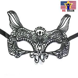 Halloween-Sexy-Antifaz-Encaje-Negro-Fiesta-Baile-de-Mascaras-Fox-Mardi-Gras-3