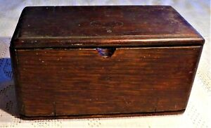 ANTIQUE-EARLY-20th-CENTURY-SINGER-SEWING-MACHINE-PARTS-WOODEN-PUZZLE-BOX
