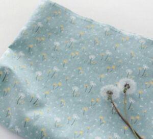 Dandelion-Fleurs-100-tissu-de-coton-par-demi-metre-fleurs-bleu-JC6-37