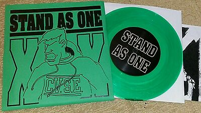 "STAND AS ONE - BEGIN TO CARE DEMO 7"" GREEN VINYL PRE - STRIFE DAYS SXE JUDGE YOT"