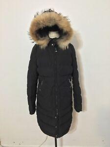 Women-039-s-PARAJUMPERS-Light-Long-Bear-Down-Coat-Large-Black