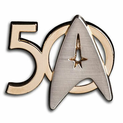 In Stock Star Trek 50th Anniversary Pin Officially Licensed Roddenberry