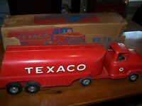 TEXACO TANKER BUDDY L TOY TRUCK PRESSED STEEL With  Original Box